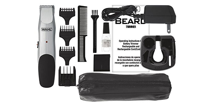 WAHL BEARD CORD-CORDLESS RECHARGEABLE TRIMMER #9918-6171 feature-set