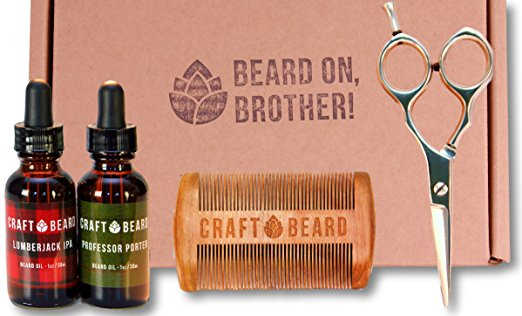 BEARD GROOMING KIT WITH SCISSORS BY CRAFT BEARD